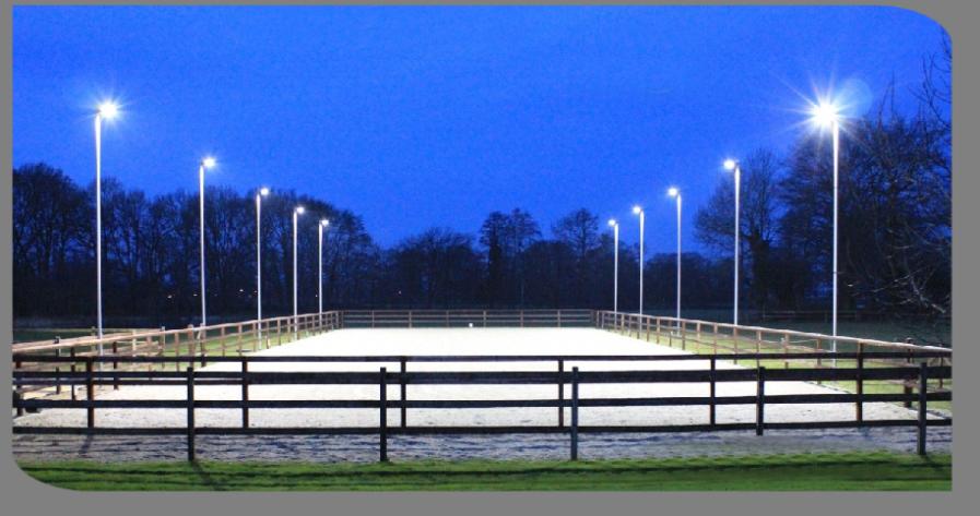 Reitplatzbeleuchtung mit LED-Strahlern - Homepage Fa. Voltmer-Maste ...